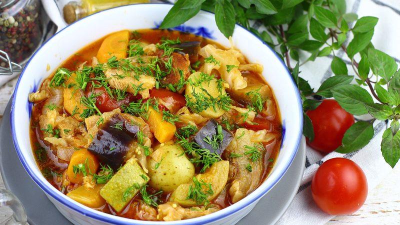 Рецепт овощного рагу — в мультиварке с кабачками и балкажанами