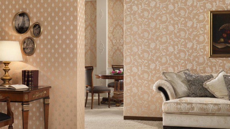 Дизайн обоев для зала — комбинированные и другие варианты поклейки