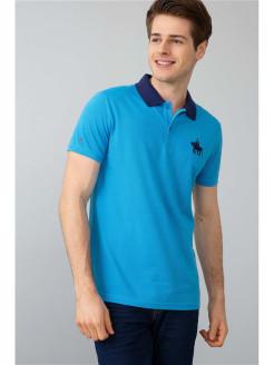 Розовые и голубые футболки поло для мужчин